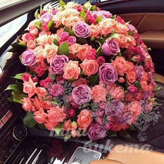 101 розу микс (Premium)