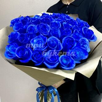 Букет из 41 синей розы