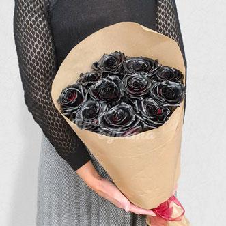 Букет из 11 черных роз
