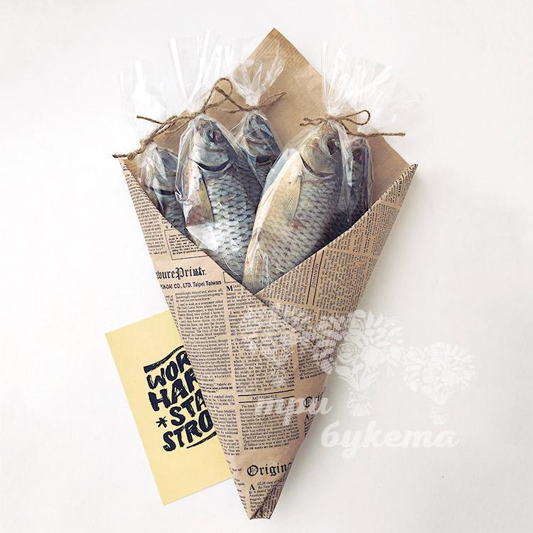 Мужской букет из 5 вяленых рыб