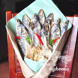 Букет из рыбы и перца