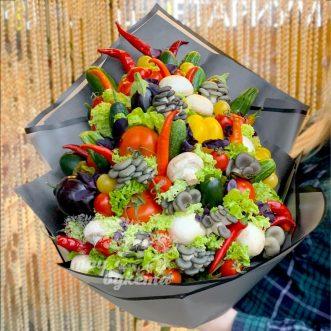 Букет из овощей и грибов фото