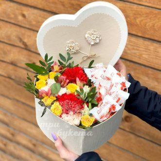 Сердце с розами и Raffaello